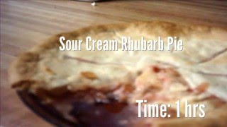 Sour Cream Rhubarb Pie Recipe