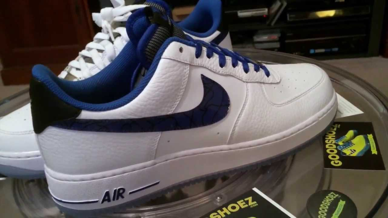 b5ca7420e9d95b  Nike Air Force 1  07 Penny Hardaway - White   Blue GR - with Royal Blue  lace swap - 1-7-14 - YouTube