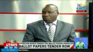 No consensus reached over IEBC ballot papers tender row
