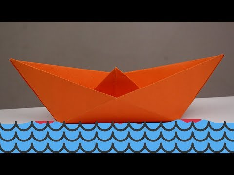HOW TO MAKE PAPER BOAT WITHOUT GLUE   DIY ORIGAMI PAPER BOAT