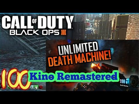 NEW Black Ops 3 Zombies Glitch!!! Unlimited Death Machine In Kino Der Toten!