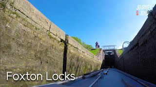 Going Up Foxton Staircase Locks In My Narrowboat - 51