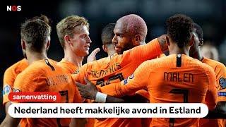 Ruime zege Oranje in Estland🔥   samenvatting Estland - Nederland   EK-kwalificatie 2020