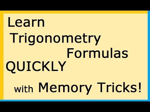 How to Memorize Trigonometry Formulas Easily : Tricks for class 12 ( NCERT-  CBSE ) in Hindi