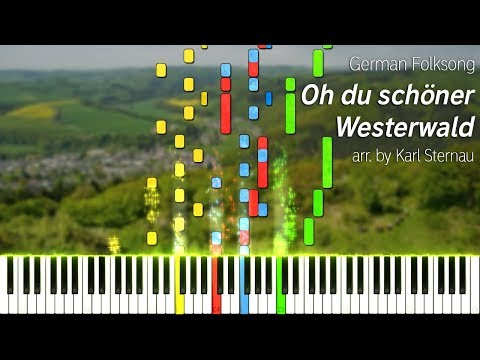 Oh Du Schöner Westerwald (piano Arr. By Karl Sternau For 4 Hands)