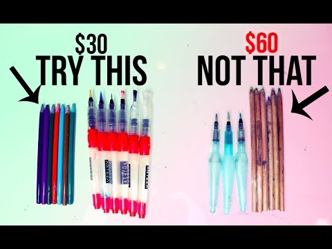 I Tested Inexpensive Art Supplies.