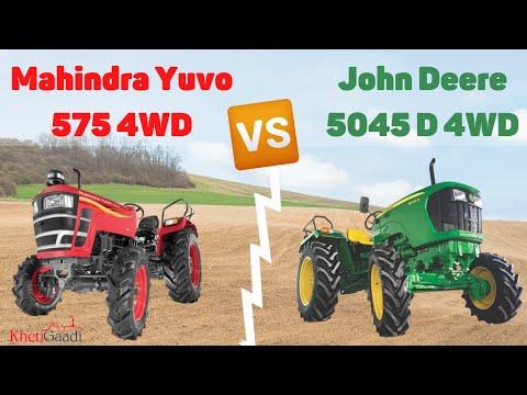 Mahindra Yuvo 575 Vs John Deere 5045 D - 4WD Tractors In 45 Hp, Khetigaadi, Tractor, Agriculture