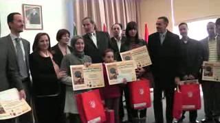 تكريم الاطفال من طرف السيدة مونية مسلم سي عامر وزيرة التضامن الوطني و الاسرة و قضايا المراة