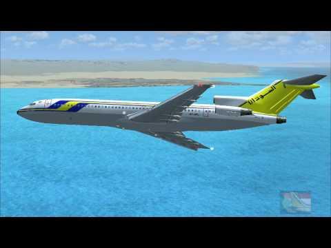 FSX 17. Sudan Airways Boeing 727-200 landing at  Djibouti  International Airport (Djibouti)