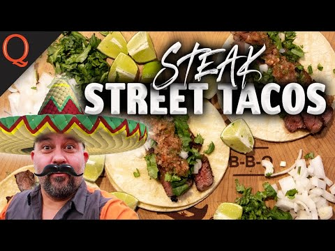 Tequila Lime Marinated Steak Street Tacos | Ft. Kosmos Q