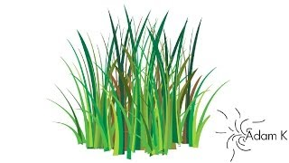 Quick Way/ How  To Create Grass Vector