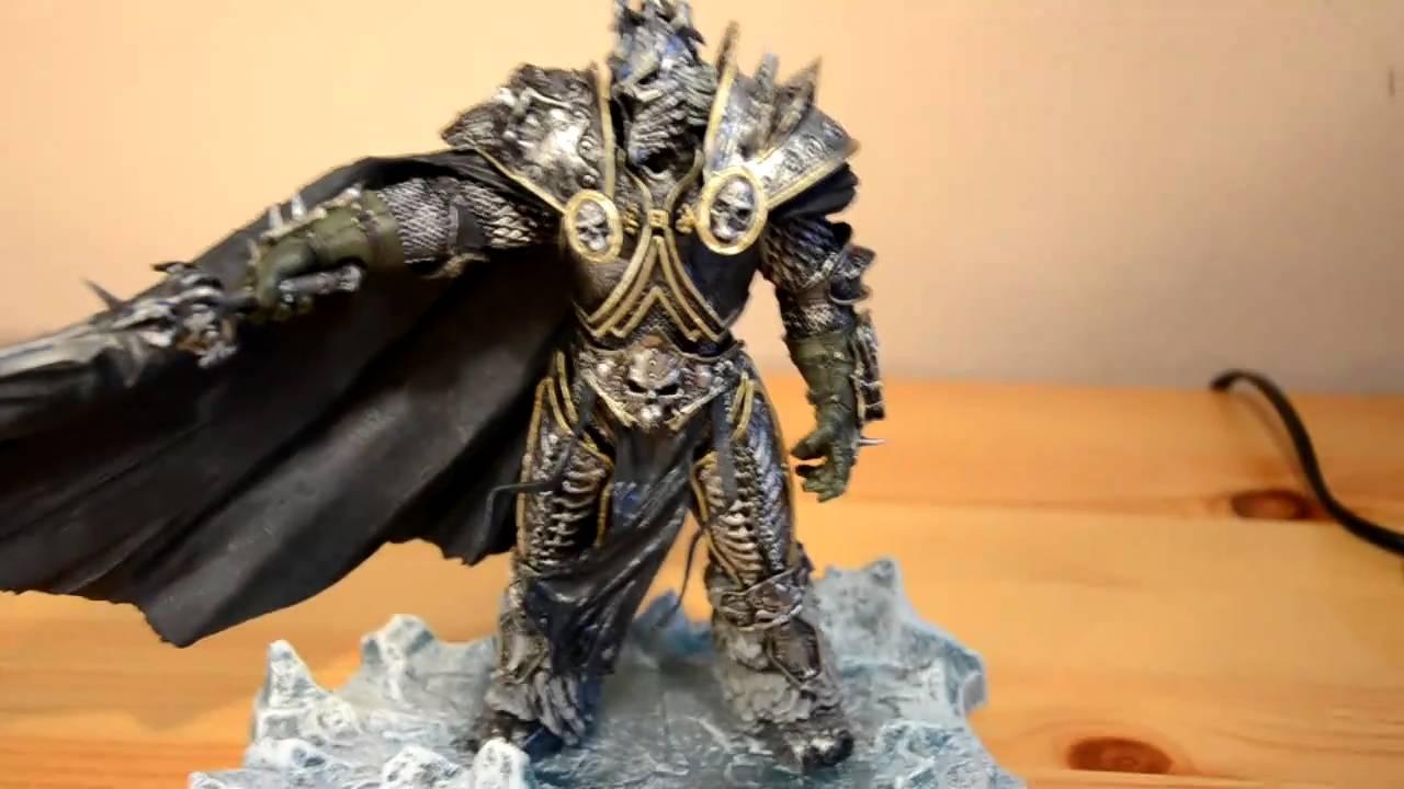 "WOW World of Warcraft Arthas Fall of The Lich King Arthas Menethil 7/"" Figure"