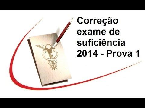 Prova exame de suficiencia 2014