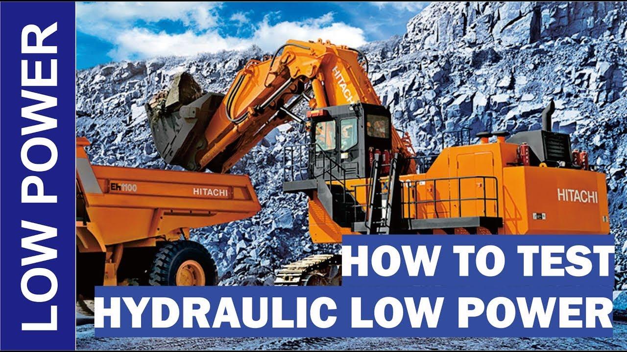 How To Test Hydraulic Low Power In Komatsu Pc 200 Youtube Pc75uu 1 Wiring Diagram