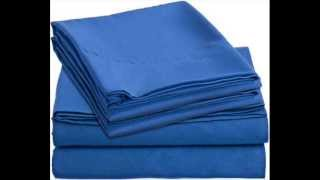 Juvenile Bed Sheets Set - Royal Colors For Kids ; Blue Twin Bedding
