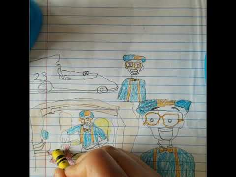 Drawing and coloring the blippi's pictures of learning colors for kids