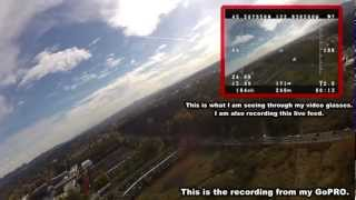 FPV Incident... Zephyr 2 snaps in two. GoPro falls 2200ft!!!!