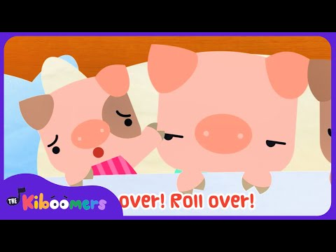 10 Pigs In The Bed | Ten in the Bed | Roll Over | Nursery Rhyme | Baby Songs | The Kiboomers