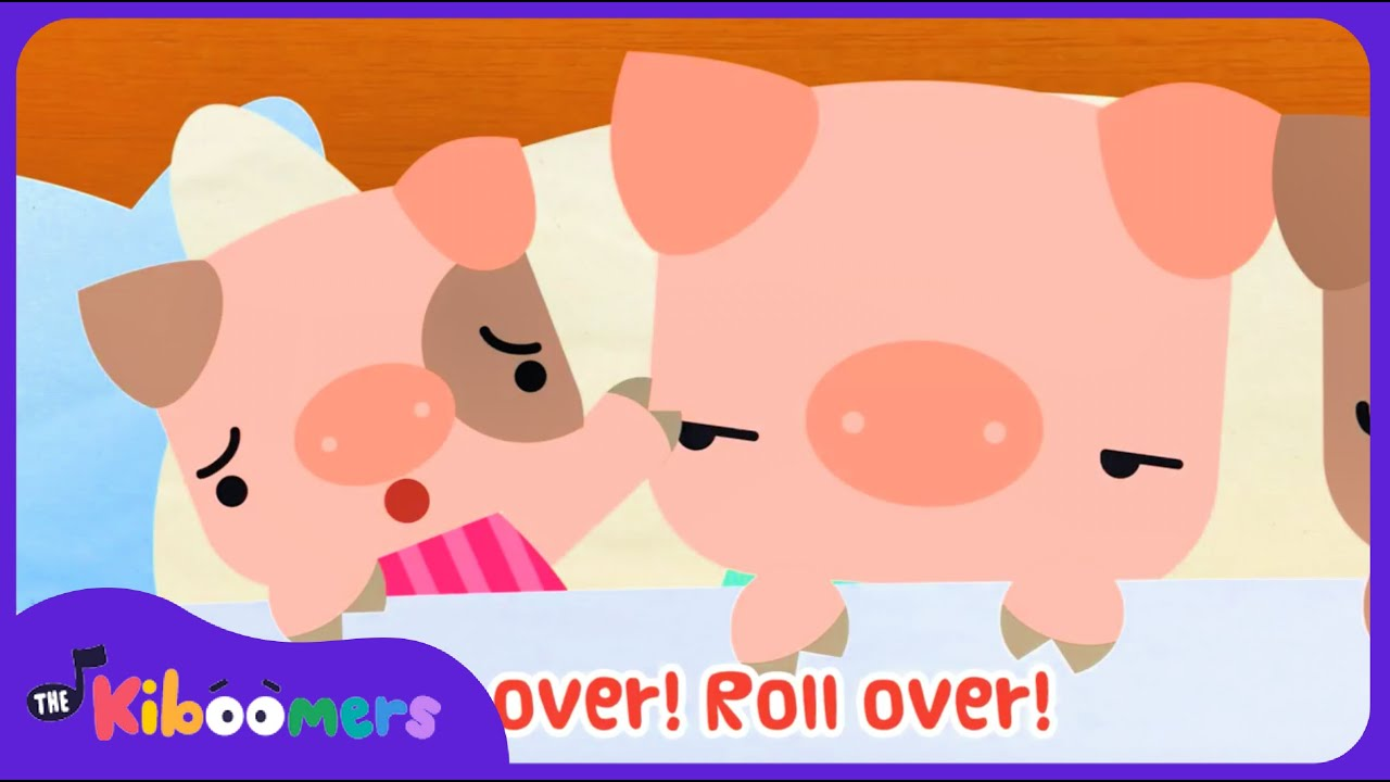 10 Pigs In The Bed   Ten in the Bed   Roll Over   Nursery Rhyme   Baby Songs   The Kiboomers