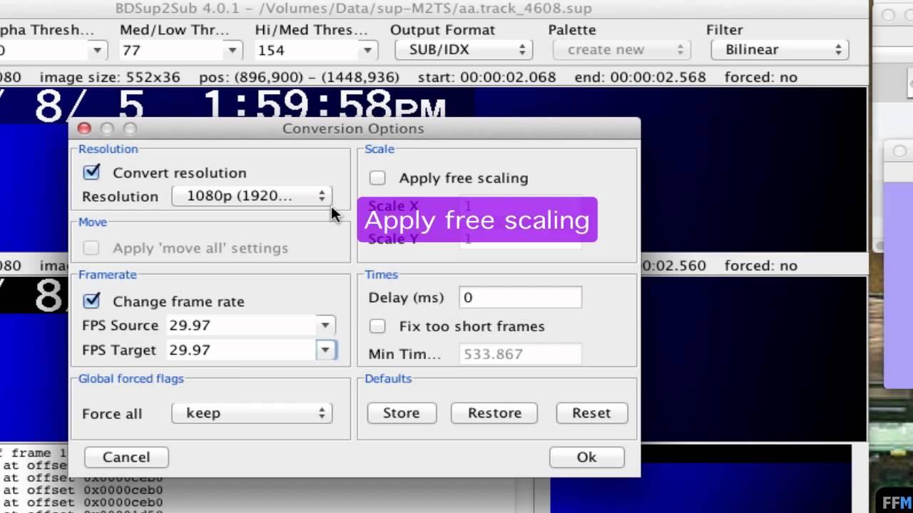 Converting IDX/SUB Subtitle to SRT