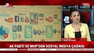 Ak Parti ve MHP'den, Flaş Sosyal Medya Yasa Teklifi! / A Haber