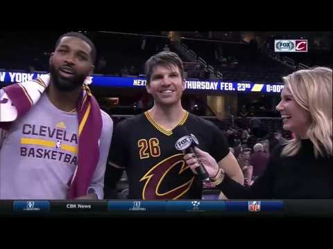 Kyle Korver talks first Cavs dunk, then Tristan Thompson jumps in | FOX SPORTS OHIO