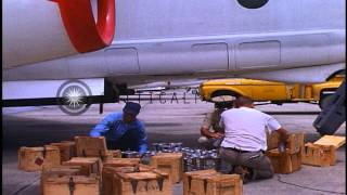 Silver Iodide Cartridges Loaded In Bomb Racks Of Planes During Operation Storm Fu...hd Stock Footage