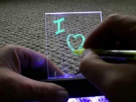 DIY Ultraviolet (UV) Fluorescent Night Light and Message Board
