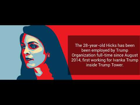 NEWS ; Hope Hicks Named Interim White House Communications Director