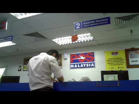 Pos postal office Kuala Lumpur Maleisie Malaysia