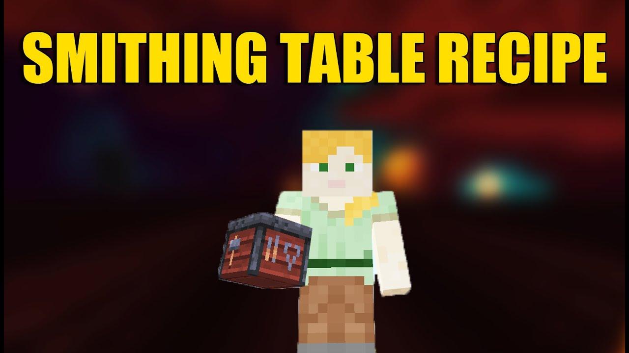 Smithing Table Minecraft Recipe - YouTube