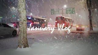 (ENG) 퇴근길 폭설 | 눈길 ❄ 눈꽃 | 1월…
