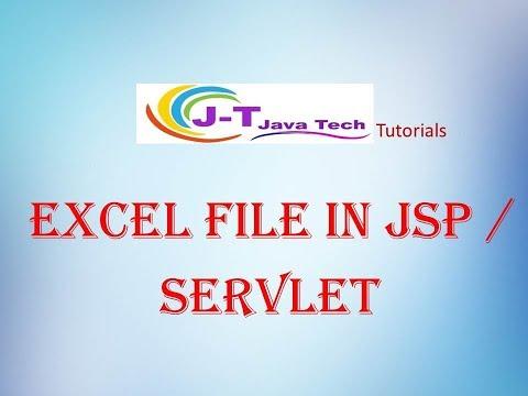 JSP /Servlet Excel File Example - YouTube