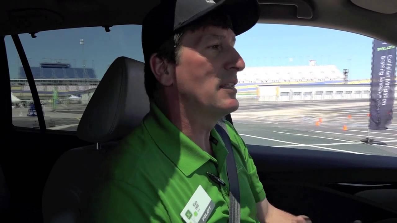 2016 Honda Pilot Crash Mitigation Brake System - YouTube