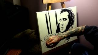 Andy Kaufman Speed Painting