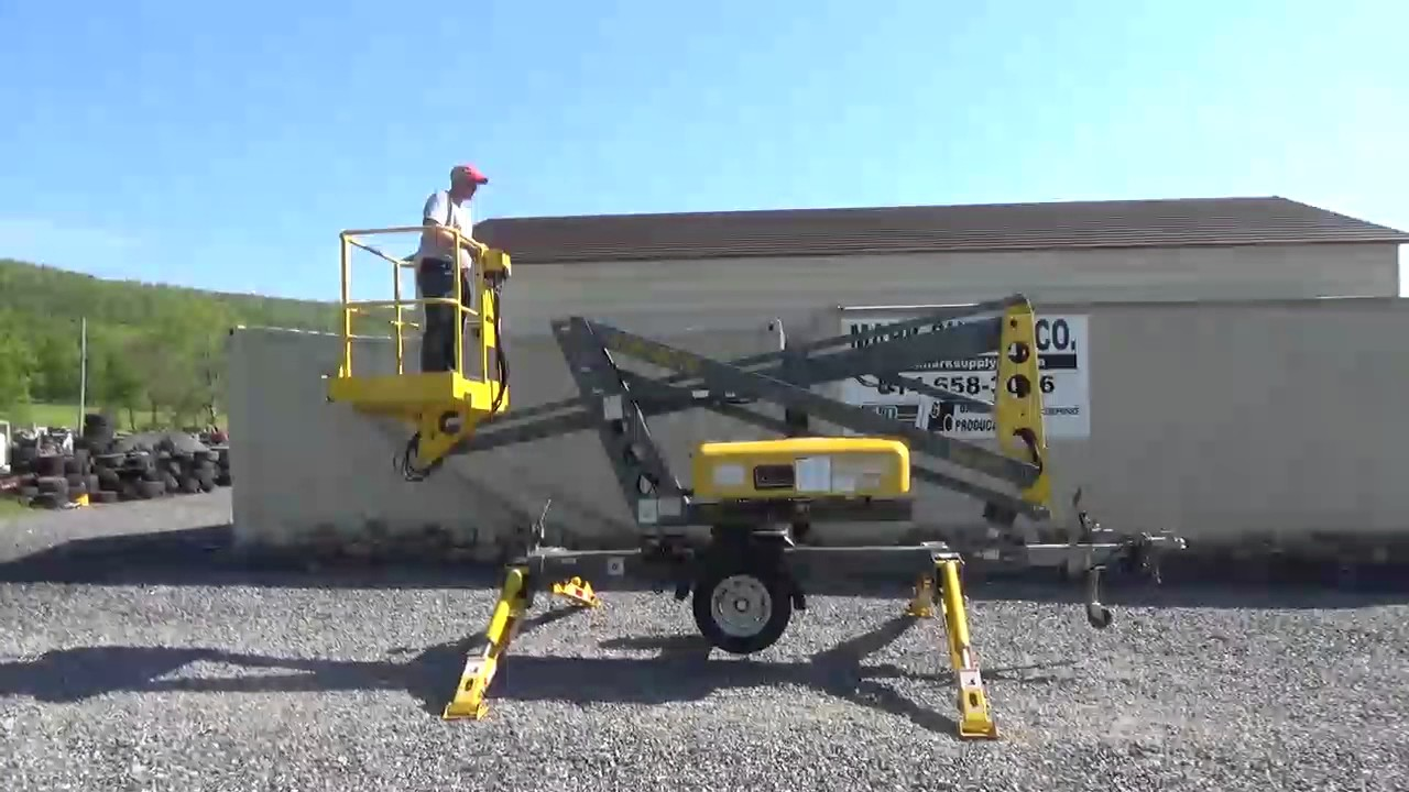 2004 bil jax xlb 4016 towable articulating boom man lift for sale