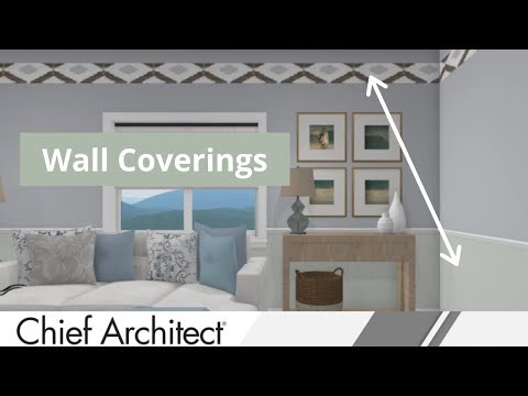Tutorial on Wall Coverings in Home Designer Software thumbnail