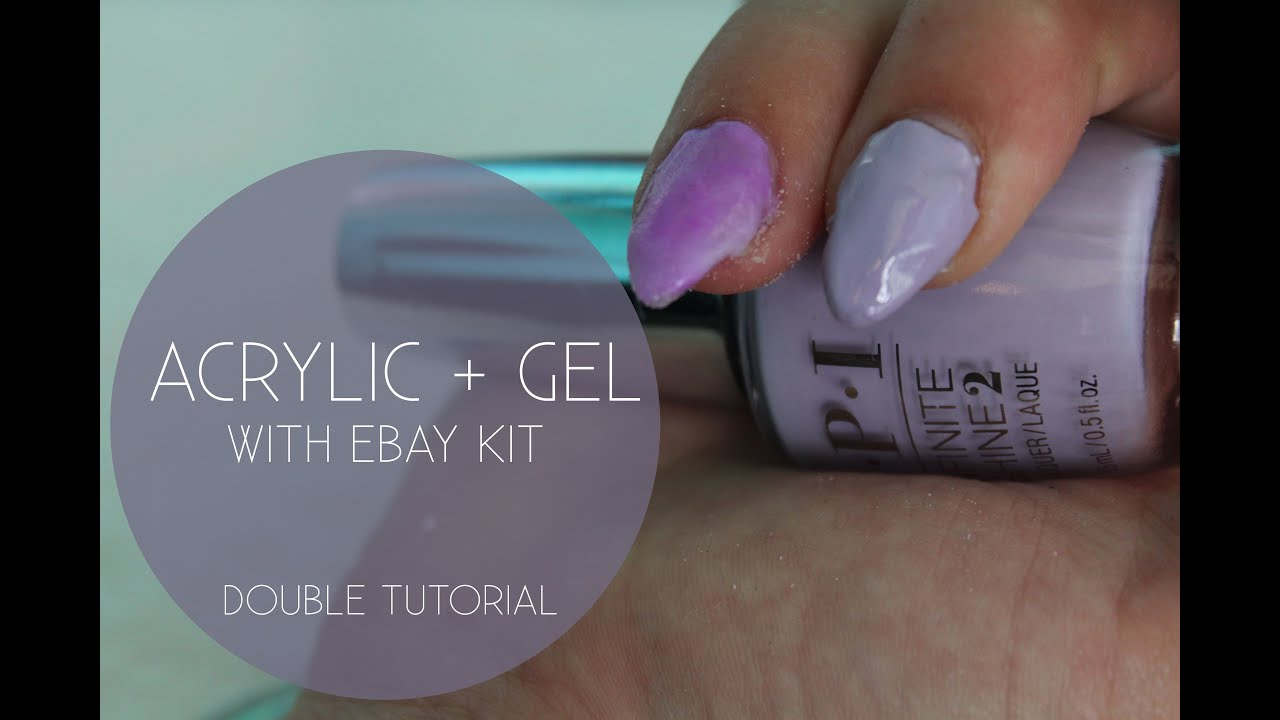 DOUBLE ATTEMPT: Full Colour Acrylic + Gel Methods with Ebay Kit ...