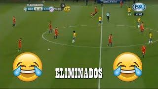 Brasileños le gritan ELIMINADOS a los chilenos