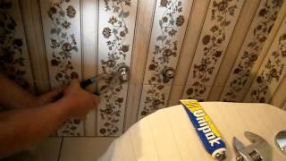 Установка смесителя в ванной Установка настенного смесителя своими руками