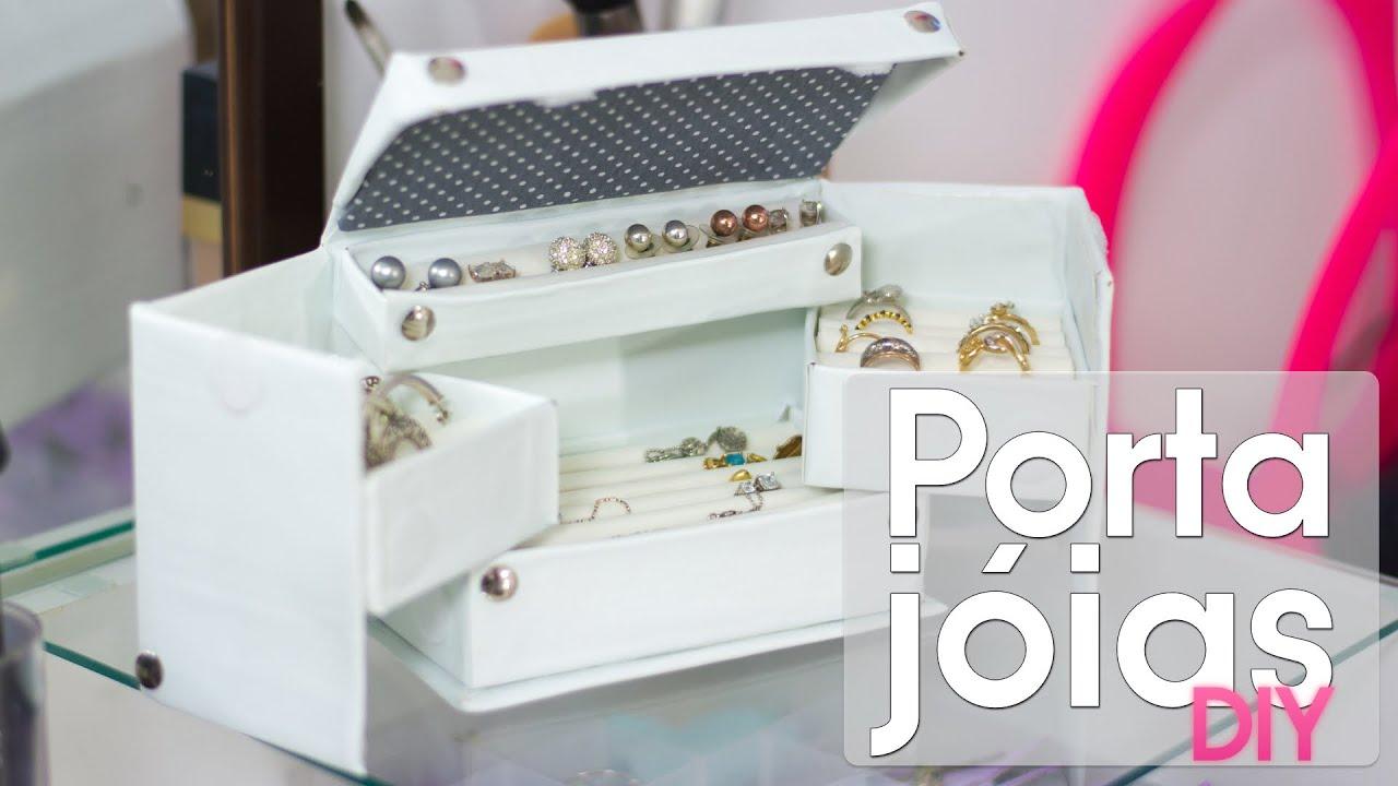 Caixa organizadora de jóias / bijuterias - YouTube