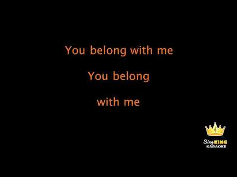 You Belong With Me  - Taylor Swift (Lyrics Karaoke) [ goodkaraokesongs.com ]
