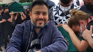 Alişan'ın kardeşi Selçuk Tektaş'ın cenaze töreninde eşi Merve Tektaş ayakta güçl