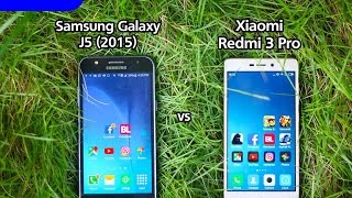 Samsung Galaxy j5 vs Xiaomi Redmi 3 Pro Speed Test (Indonesia with English Subtitle)