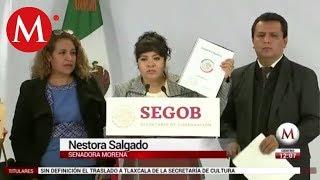"Nestora Salgado entrega lista de ""presos políticos"" a Segob"