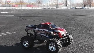 RC Addiction - Traxxas Stampede 4x4 XL5 speed test.