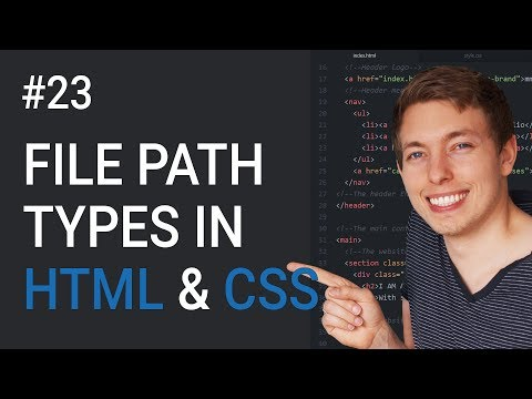 23: File Paths In HTML And CSS | Learn HTML And CSS | HTML Tutorial | CSS Tutorial