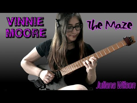 VINNIE MOORE - The Maze Full Cover | Juliana Wilson 19 years old