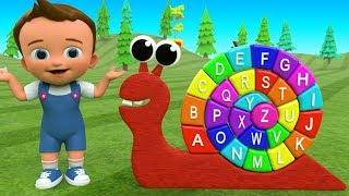 ABC Alphabets with Snail Puzzle Wooden Toy Set | Little Baby F…