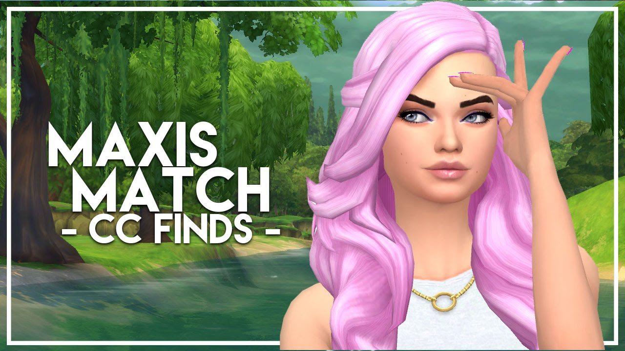 The Sims 4 Custom Content Finds Maxis Match Hairstyles
